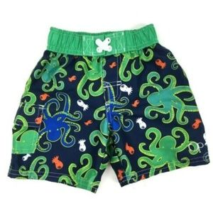 OP Toddler Swim Trunks Size 24M 2T Navy Octopus